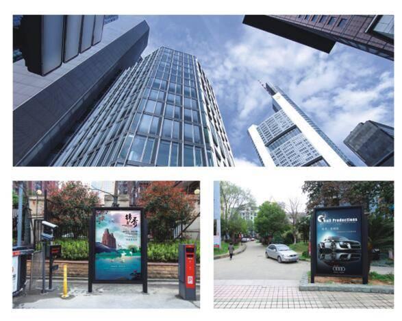 武汉市高端社区出入口门禁类大牌灯箱广告(一周报价)