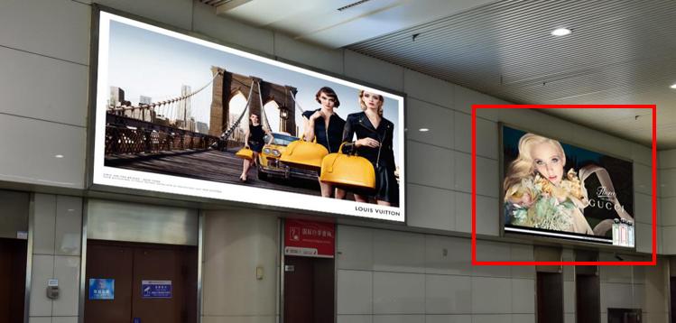 青岛机场T2出发层墙面灯箱广告(一个月)DA-Q12-T2