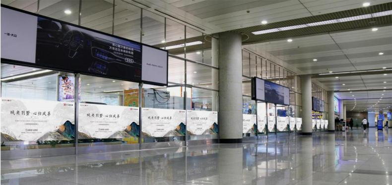青岛机场T1出发层通透贴膜广告(一个月)DT-TM1-T1