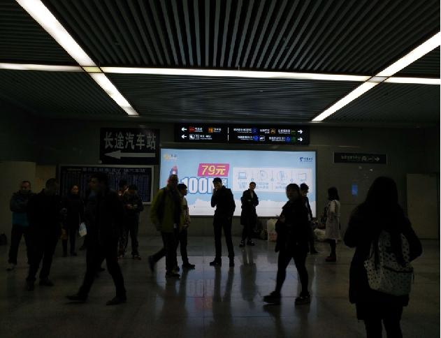 重庆高铁北站出站口左侧灯箱广告(编号:MY-6)