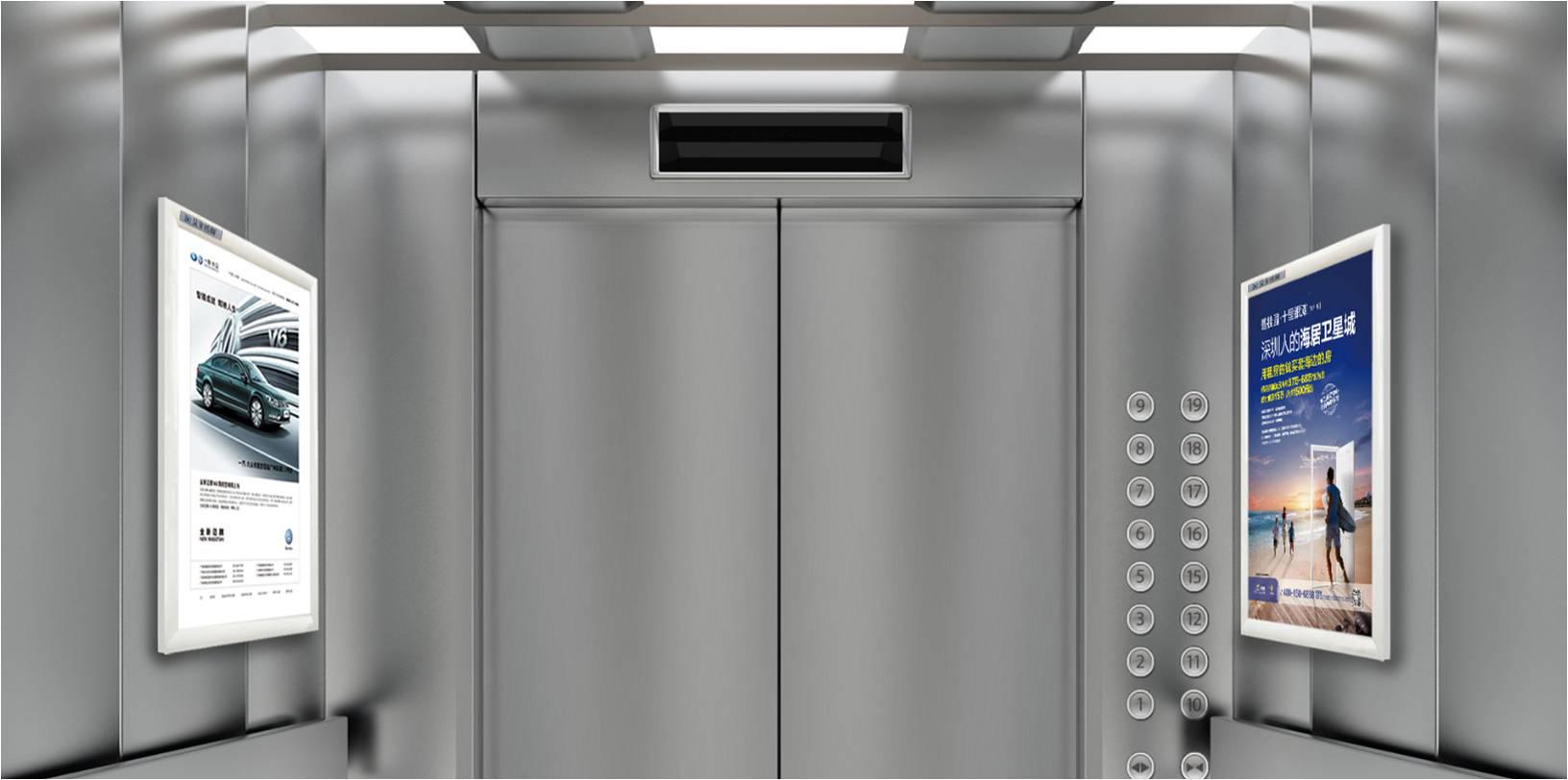 温州电梯框架广告