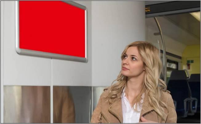 瑞士联邦铁路公司高铁国际列车火车车厢内广告牌(600块/1周)