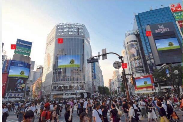 东京涩谷多屏同时播放大屏 特别打包方案