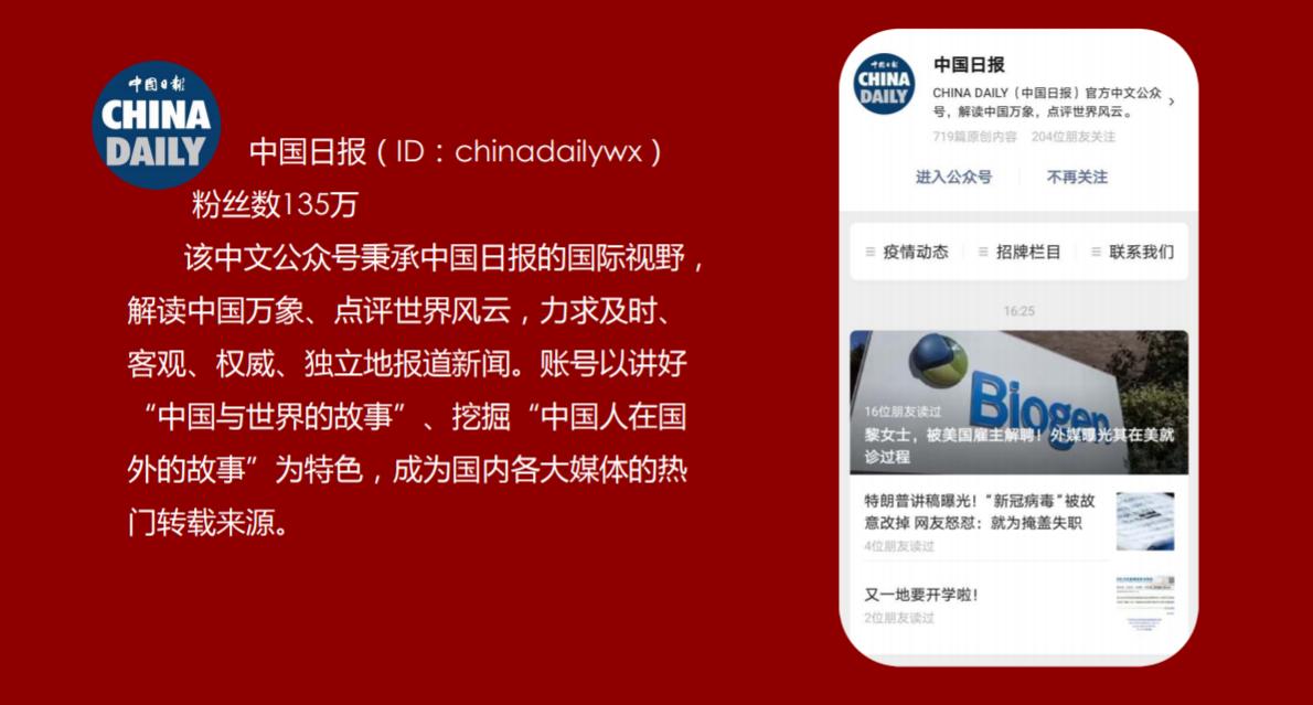 中国日报官方微信