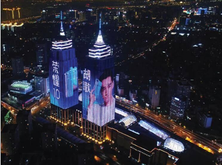 上海地标环球港双子塔灯光秀广告特惠!
