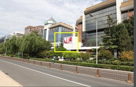 北京长安街复兴门百盛购物广场墙体广告特惠!