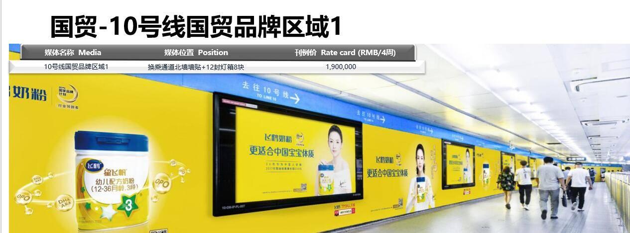 北京地铁广告_地铁10号线国贸站品牌墙贴广告 地铁国贸站12封灯箱广告