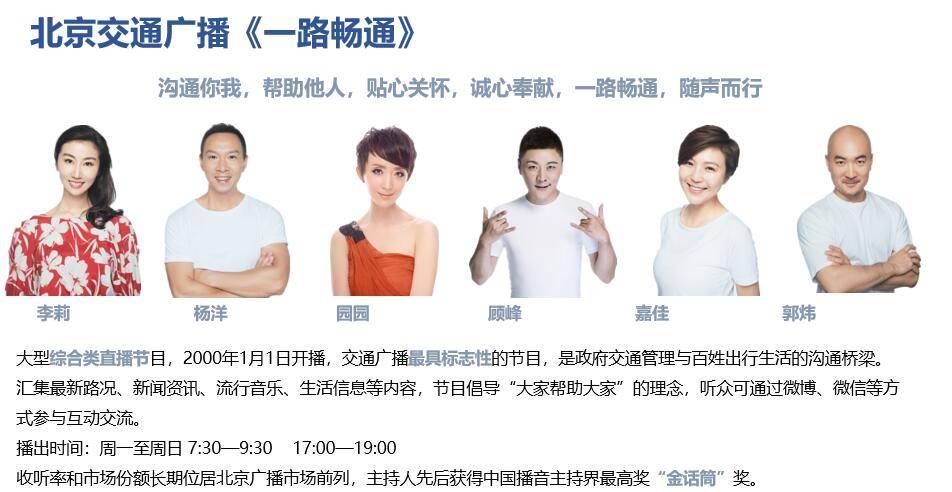 北京交通广播《一路畅通》栏目广告代理发布