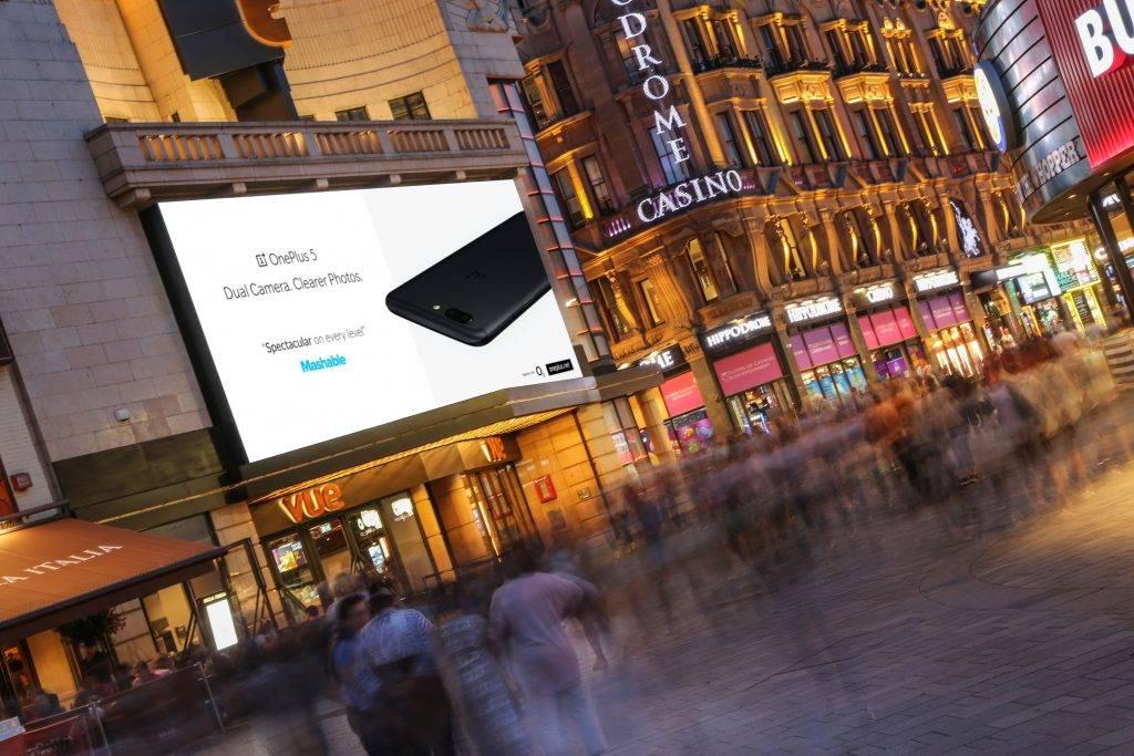 英国伦敦莱斯特广场屏